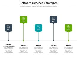 Software Services Strategies Ppt Powerpoint Infographic Template Deck Cpb
