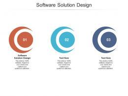 Software Solution Design Ppt Powerpoint Presentation Model Inspiration Cpb