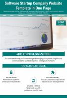 Software Startup Company Website Template In One Page Presentation Report Infographic PPT PDF Document