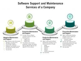 Software Support And Maintenance Services Of A Company