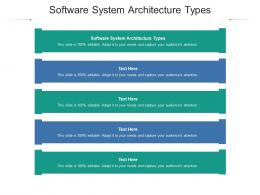 Software System Architecture Types Ppt Powerpoint Presentation Infographic Template Slide Portrait Cpb