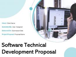 Software Technical Development Proposal Powerpoint Presentation Slides