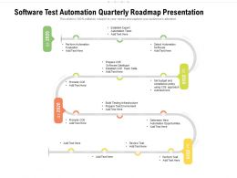 Software Test Automation Quarterly Roadmap Presentation