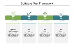 Software Test Framework Ppt PowerPoint Presentation Slides Examples Cpb