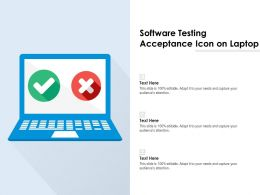 Software Testing Acceptance Icon On Laptop