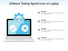 Software Testing Agreed Icon On Laptop