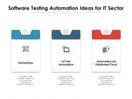 Software Testing Automation Ideas For IT Sector