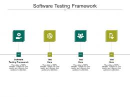 Software Testing Framework Ppt PowerPoint Presentation Gallery Information Cpb