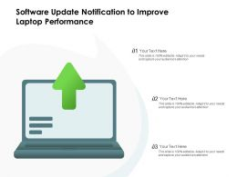 Software Update Notification To Improve Laptop Performance
