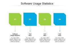 Software Usage Statistics Ppt Powerpoint Presentation Pictures Format Ideas Cpb