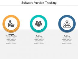Software Version Tracking Ppt Powerpoint Presentation Summary Layouts Cpb