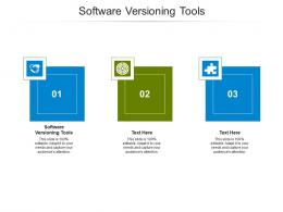Software Versioning Tools Ppt Powerpoint Presentation Ideas Show Cpb