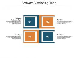 Software Versioning Tools Ppt Powerpoint Presentation Layouts Smartart Cpb