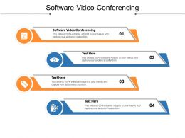 Software Video Conferencing Ppt Powerpoint Presentation File Picture Cpb