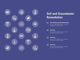 Soil And Groundwater Remediation Ppt Powerpoint Presentation Ideas Design