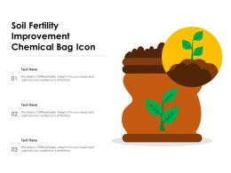 Soil Fertility Improvement Chemical Bag Icon