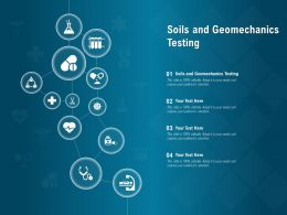 Soils And Geomechanics Testing Ppt Powerpoint Presentation Layouts Tips