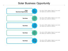Solar Business Opportunity Ppt Powerpoint Presentation Infographic Template Icon Cpb