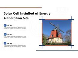 Solar Cell Installed At Energy Generation Site