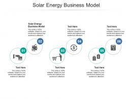 Solar Energy Business Model Ppt Powerpoint Presentation Pictures Graphic Images Cpb