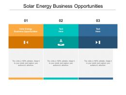 Solar Energy Business Opportunities Ppt Powerpoint Presentation Icon Visuals Cpb