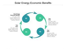 Solar Energy Economic Benefits Ppt Powerpoint Presentation Templates Cpb
