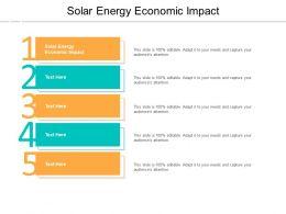 Solar Energy Economic Impact Ppt Powerpoint Presentation Portfolio Show Cpb