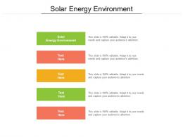 Solar Energy Environment Ppt Powerpoint Presentation Pictures Guidelines Cpb