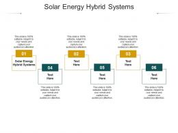Solar Energy Hybrid Systems Ppt Powerpoint Presentation File Diagrams Cpb