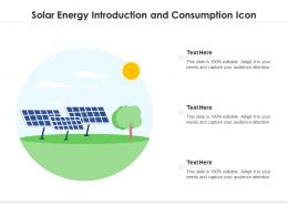 Solar Energy Introduction And Consumption Icon