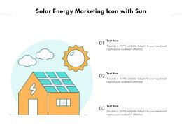 Solar Energy Marketing Icon With Sun