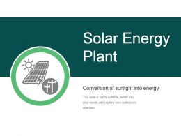 Solar Energy Plant Ppt Templates