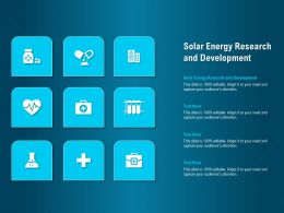 Solar Energy Research And Development Ppt Powerpoint Presentation Styles Show