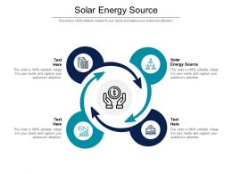 Solar Energy Source Ppt Powerpoint Presentation Layouts Information Cpb