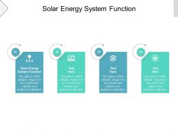 Solar Energy System Function Ppt Powerpoint Presentation Example Cpb