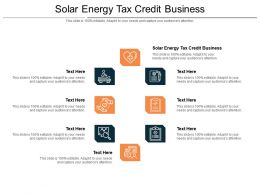 Solar Energy Tax Credit Business Ppt Powerpoint Presentation Icon Slides Cpb