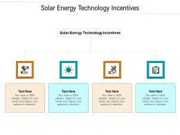 Solar Energy Technology Incentives Ppt Powerpoint Presentation Professional Tips Cpb