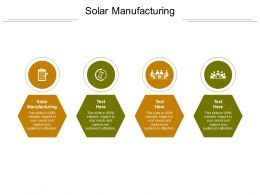 Solar Manufacturing Ppt Powerpoint Presentation Inspiration Cpb