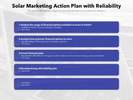Solar Marketing Action Plan With Reliability