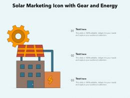 Solar Marketing Icon With Gear And Energy