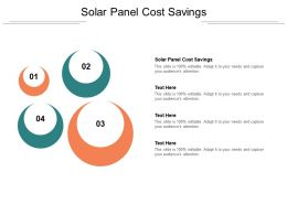 Solar Panel Cost Savings Ppt Powerpoint Presentation Infographic Template Outline Cpb