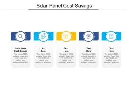 Solar Panel Cost Savings Ppt Powerpoint Presentation Inspiration Example Cpb