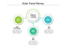 Solar Panel Money Ppt Powerpoint Presentation Pictures Structure Cpb