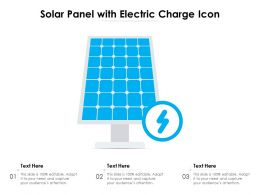 Solar Panel With Electric Charge Icon