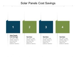 Solar Panels Cost Savings Ppt Powerpoint Presentation Show Rules Cpb
