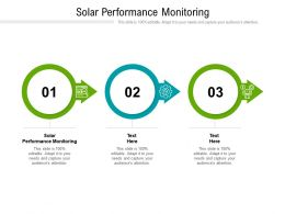 Solar Performance Monitoring Ppt Powerpoint Presentation Infographic Template Vector Cpb
