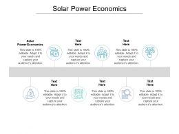 Solar Power Economics Ppt Powerpoint Presentation Icon Cpb