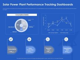 Solar Power Plant Performance Tracking Dashboards Lightings Ppt Powerpoint Portfolio Grid