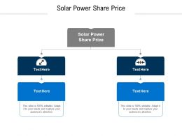 Solar Power Share Price Ppt Powerpoint Presentation Inspiration Visuals Cpb