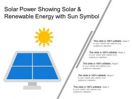 Solar Power Showing Solar And Renewable Energy With Sun Symbol